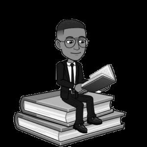 Emoji Germain qui lit un livre