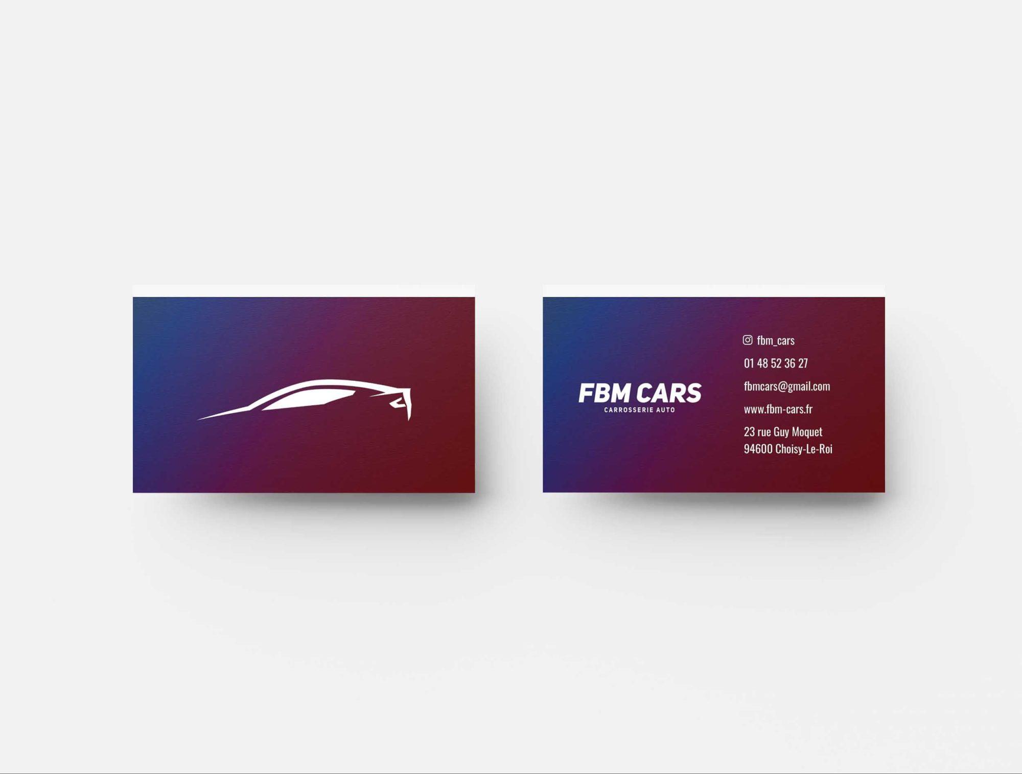cartes de visite fbm cars