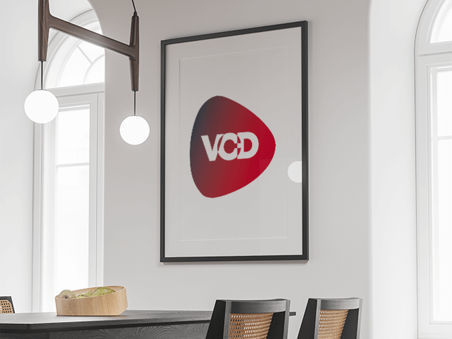 logo vcd dans un cadre
